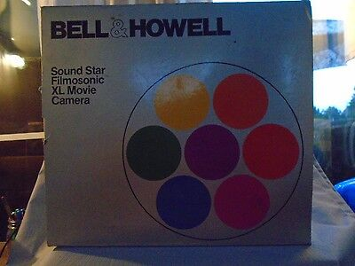 1979 Bell & Howell Sound Star 1225 Filmosonic XL Movie Camera with Box & Manual