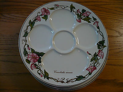 Villeroy And Boch Botanica -Set Of 6 Oyster Plates In Mint Condition- Luxembourg