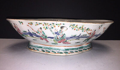 Antique Chinese Porcelain Bowl Woman and children Playing Beautiful Designs