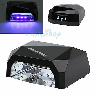 36W Gel Dryer Nail Care Curing Tool LED UV Lamp Drying For Shellac Polish Timer