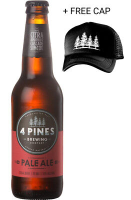 4 Pines Pale Ale Case + Free Trucker Cap 24 x 330ml Case of Craft Beer