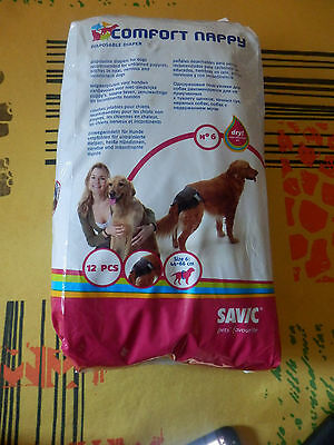 12 couches chien moyen + 6 couches offert taille 6 44 - 66 comfort nappy