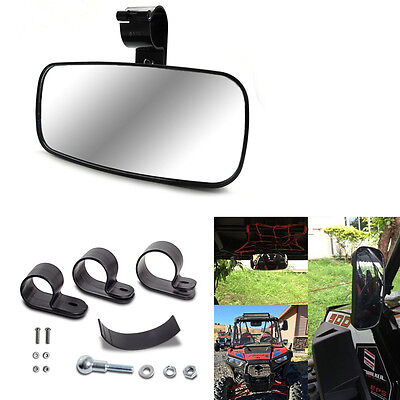 Center Wide Large Adjustable Rear View Clear Mirror for Universal UTV Off Road