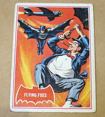 Scanlens 1966 Batman Red Shield Trading Card 31A Flying Foes
