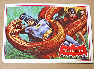 Scanlens 1966 Batman Red Shield Trading Card 24A Tight Squeeze