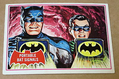 Scanlens 1966 Batman Red Shield Trading Card 16A Portable Bat Signals