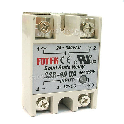2 SSR-40DA Solid State Relay 40A /250V 24V-380V For PID Temperature Controller