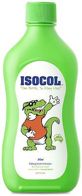 Isocol Antiseptic Rubbing Alcohol 345mL First Aid Cleaning Concentrate