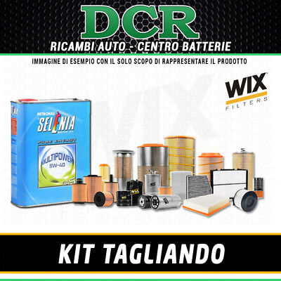 KIT TAGLIANDO FIAT PANDA II 1.4i NATURAL POWER 69CV 51KW DAL 2010 + SELENIA 5W40