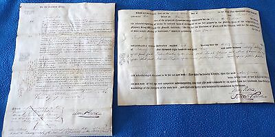 2 Vellum Documents Related to People in Cambridge County, 1862