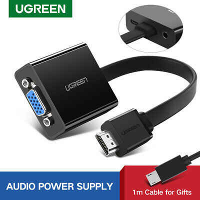 UGREEN HDMI to VGA Converter Adapter With Audio Output For Xbox PS4 PC Laptop