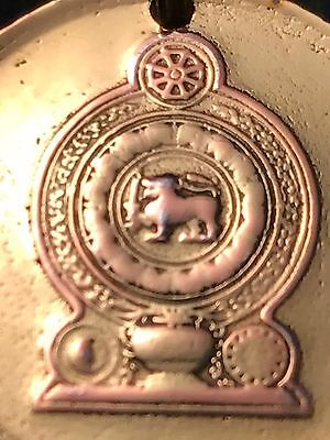 LOVELY GENUINE 2005 SRI LANKAN COIN featuring CEYLON LION PENDANT ON GOLD CHAIN