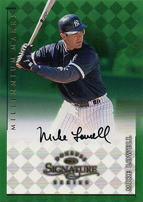 Mike Lowell 1998 Donruss Signature Millenium Marks Auto