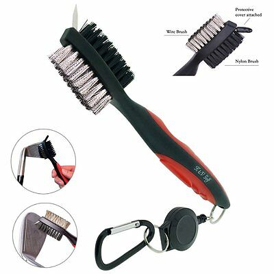Golf Club Brush and Groove Cleaner with Bag Clip