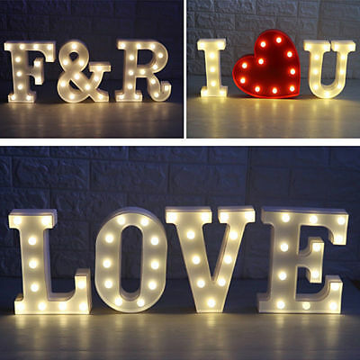 22cm LED Marquee Letter Alphabet Light Vintage Circus Style Light Up Christmas