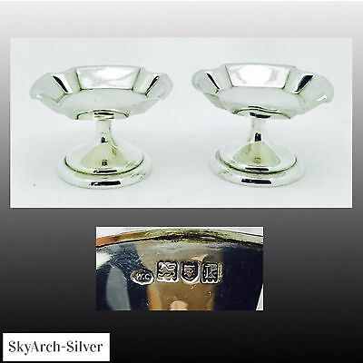 SOLID SILVER Dishes PAIR Hallmarked London 1905 WILLIAM COMYNS