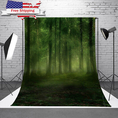 5x7FT Forest Studio Thin Vinyl Cloth Photo Backdrops Photography Background Prop
