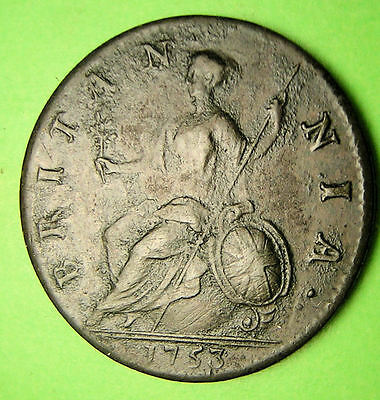 Great Britain 1753 Half Penny,
