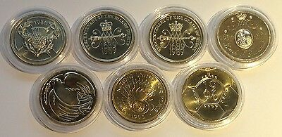 Large Old Style British £2 Two Pound Coins -  BU 1986 1989 1994 1995 1996