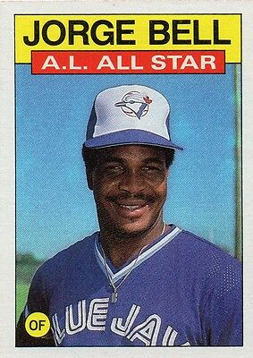 George Bell 1986 Topps All Star