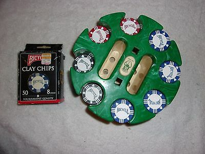 Bicycle Poker Chips and Tray