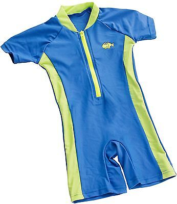 BabyPrem Big Fisch Baby Boys Blue All-in-one UV Sun Protection Swimwear Suit