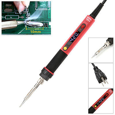 60W LCD Digital Soldering Iron Temperature Adjustable US/EU Plug & Iron Frame