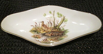 Mottahedeh Vista Allegre Pheasant Candy Relish Dish Trinket Tray - Clean!!