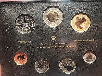 2011 Royal Canadian Mint Condition 7 Coin Set With Chip On Case