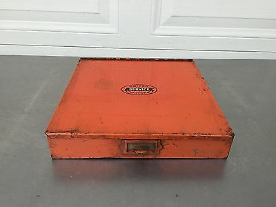 Vintage United Motors Service Metal Parts Cabinet  Gas Oil GM AC DELCO