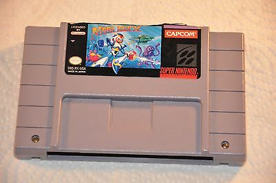 Mega Man X (Super Nintendo Entertainment System, 1993) SNES Game Cartridge