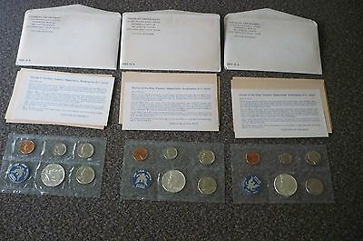 Lot of Three (3) 1965 Special Mint Sets In Original Packaging & Envelopes