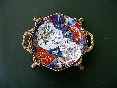 antique old imari porcelain plate japan 19th cent. hand made and decorated arita