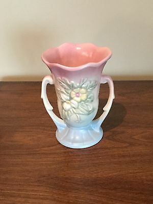 Vintage Hull Pottery Wildflower (numbers) Vase W-9-8 1/2 Blue Green and Pink
