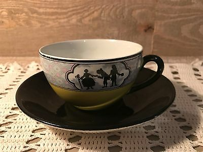Silhouette Black and Yellow Manitou Tea Cup and Saucer