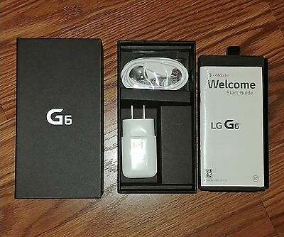 T-Mobile LG G6 box, charger, manual only - NO PHONE
