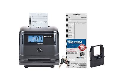 Pyramid 5000 Auto Totaling Time Clock - Made in the Usa Standard