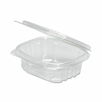 Genpak AD16 Clear Hinged Deli Container 16oz 5 3/8 x 4 1/2 x 2 5/8  2 Bags of...