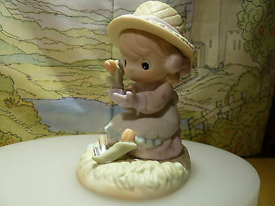 Precious Moments Lord Let Our Friendship Bloom 879126 Girl Mouse In Garden Mint