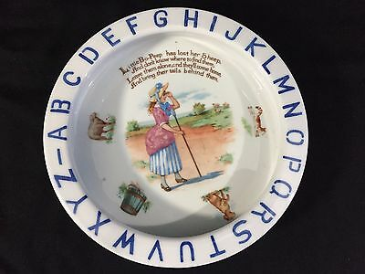 Vintage Rare Little Bo Peep Abc Alphabet Collectible Dish Plate Germany Erphila