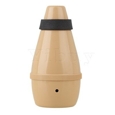 Yibuy Practice Trumpet Straight Mute Silencer Wood Color