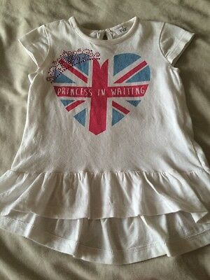 Baby Girls Princess In Waiting T-shirt With Frill Legging Top Age 9-12 Months