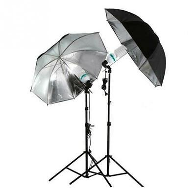 New Photo Studio Photography Video Continuous Lamp Light White Soft Umbrella Kit