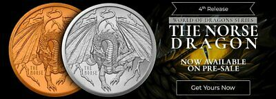 THE NORSE DRAGON 1 oz Silver Round | World of Dragons Series #4 of 6 PRE-SALE