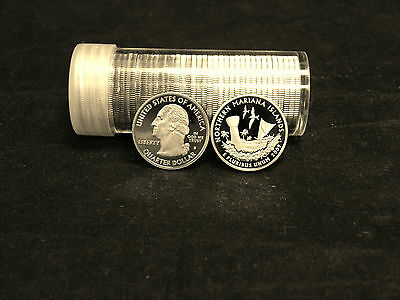 Roll of 40 2009 S Proof U.S. Northern Mariana Islands Clad Quarters