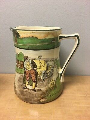 Royal Doulton Motoring Series BLOOD MONEY Tankard Jug Pitcher Automobile Car