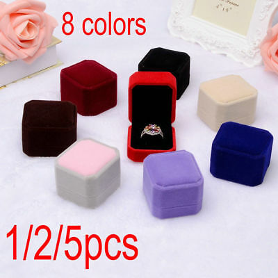 2017 Luxury Velvet Wedding Engagement Ring Pillow Jewelry Stand Gift Box