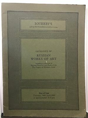 Auction Catalog - Sotheby's Catalogue of Russian Works of Art - April 14, 1983