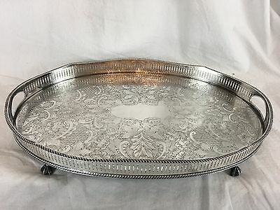 Reed & Barton Sheffield England Silverplate Gallery Tray Circa 1920