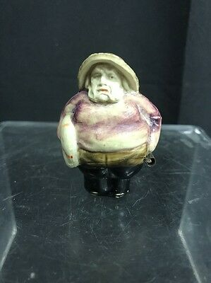 Vintage Celluloid Figural Sewing Tape Measure of Fisherman, Germany